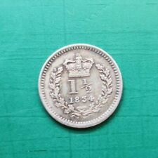 More details for 1834 silver three half pence william the 4th silver coin #670