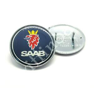 Saab 9-3 93 900 NG900 9000 50mm Front Badge Bonnet Emblem Blue 88-02 5289871