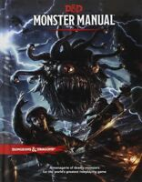 Monster Manual: Core Rule Book (Dungeons & Dragons, D&D) [New Book] Hardcover,
