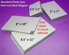 10 Self Adhesive Flexible Magnetic Sheets 8.5x11 inch, USA made - FREE shipping