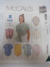 Vintage 8620 Uncut McCalls 8 Great Looks Womens Shirt Sewing Pattern 10 12 14
