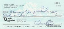 LONNY FREY NEW YORK YANKEES NY GIANTS SIGNED PERSONAL CANCELLED BANK CHECK 1997