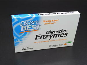 Doctor's Best Best Digestive Enzymes, Vegetable Capsules, 10-Count EXP 7/2022