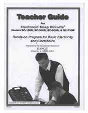 Snap Circuits Teachers Guide 753290 FOR SC-100/300/500/750