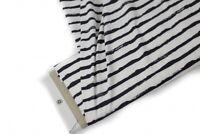 Baumwoll Jersey Streifen schwarz weiß FvJulie Kombistoffe Kinderstoffe 145 cm