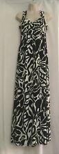 Roman Size 10 Print Maxi Summer Dress Monochrome Long