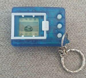 1997 Original Digimon Tamagotchi Bandai Blue Transparent Digivice