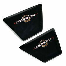 Left & Right Side Panel Set Original Black For Royal Enfield Interceptor 650 cc