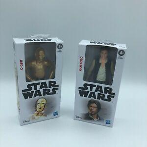 Star Wars Han Solo & C-3PO 6 inch Action Figure Collectable Disney Hasbro NIB