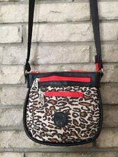RARE EARTH Stone Mountain NWOT Purse Crossbody Animal print w red & pink accents