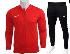Mens Nike Tracksuit Full Zip Knit Football Training Top Jacket Bottoms Jogging XL Red