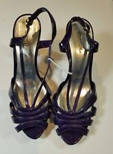 X-Appeal Women's Size 8 Carley Shoes Purple Sling Back Faux Patent leather