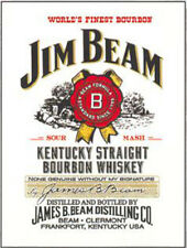 JIM BEAM KENTUCKY DRITTO BORBONE whisky. man cave Calamita da frigorifero