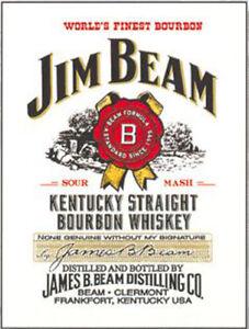 Jim Beam Kentucky Straight Bourbon Whisky. Man Cave Fridge Magnet