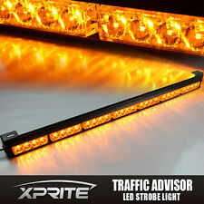 "31"" 28 LED Emergency Warning Light Bar Traffic Advisor Flash Strobe Amber"