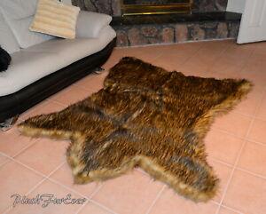 5' x 6' Best Grizzly Bearskin New Bear Design PlushFurEver