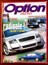 Option Auto n°102 du 6/1999; Créations Jaguar/ VW POlo/ Coupé 406/ Mini 540 Ch