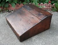 Antique Solid Pine 19th Century Writing Slope 45.5 x 40 x 20 cms