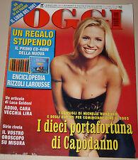OGGI=2002/1=MICHELLE HUNZIKER=FOTO ANNO 2001=ASIA FIORE ARGENTO=NATALIA ESTRADA=