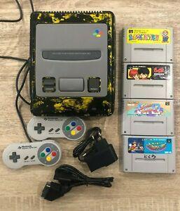 Console Super Famicom  Japan custom 2 manettes +cables + jeux Nintendo SNES SFC
