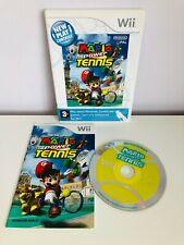 Juego de tenis de alimentación Nintendo Wii Mario Completa Con Manual De 2009-PAL -