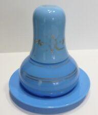 Belle CARAFE DE NUIT Ancienne en Opaline bleue XIXème siècle - Charles X