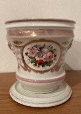 Antico Cachepot Fine 800 Portavaso Porcellana Filatura
