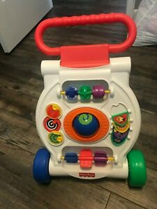 Baby walker, used, in good condition, blue,red,green