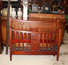 Beautiful Antique English Mahogany Full Size Bed With Rails.