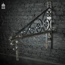 Early 20th C Wrought Iron Hanging Sign Wall Bracket