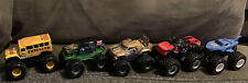 Hot Wheels Monster Jam Lot of 5 Monster Trucks Metal Chassis Grave Digger He Man