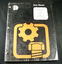 Dresser International 412 Scraper Tractor Parts Manual Book Catalog List Oem