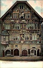 Schaffhausen Schweiz Switzerland AK ~1900 Haus zum Ritter Fresken Carte Postale