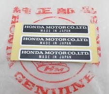 3pcs Honda Sticker Decal Label CL77 Z50 CT S90 CB160 CA CL 175 QA50 ATC70 XL100