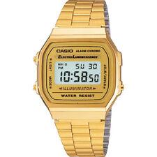 Casio Mens Classic Digital Wrist Watch Gold Stainless Steel Band Retro A168WG/9W