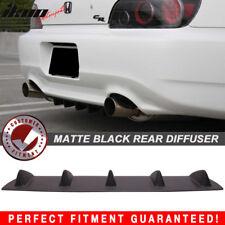 Fits 00-09 S2000 AP1 AP2 V1 Style Rear Bumper Lip Diffuser 5 Fin Matte Black ABS