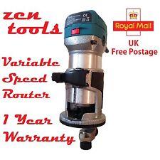 Velocidad Variable laminado a mano madera Condensador de ajuste C/W guía 240V RT0700 Zen (No Makita)
