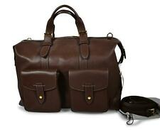 A. Testoni Men's Weekend Bag Brown Leather Handbag NEW