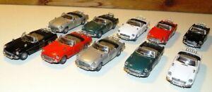 Job Lot A Cararama 1:43 MGB Cabriolet Convertible Diecast Models - Unboxed