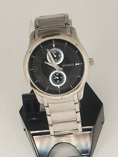 Fossil FS4383 45mm Stainless Steel Black Dial Watch for Men RUNNING