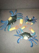 Wall Art Set Of Three Crabs Large Medium Small