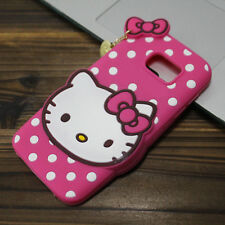 3D Hello Kitty Silicone Phone Case For iPhone X SE 5 6 7 8 Samsung J7 S8 S9 Plus