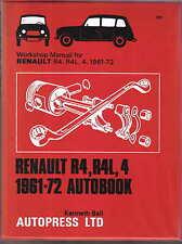 Renault R4, R4L,4 1961-1972 Owners Workshop Manual Autobook No 289 Pub. 1972