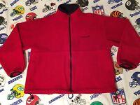 Vtg 90s Men's Timberland Outdoors Full Zip Up Mock Neck Fleece Sweater Size L B3