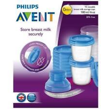 AVENT 10 Reusable Breast Milk Storage Cups 180ml