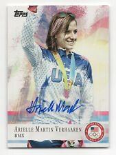 2012 Topps USA Olympic Team Autograph #67 Arielle Martin Verhaaren BMX Cyclist