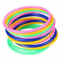 """10× New Toss Rings Circle Hoopla Game Fun Throw to Hook Kids Child 5.1""""/13 K2A4"""