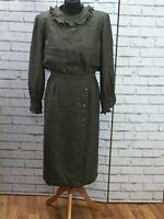 Vintage 80s Valentino Miss V Dress Houndstooth Lambswool Size US 10 / UK14