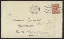 UK GB 1934 FROM THE PRIVATE COLLECTION OF PRESIDENT D ROOSEVELT MIS DIRECTED NY