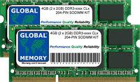 4gb 2x2gb DDR3 1066/1333 / 1600mhz 204-pin SODIMM Kit de Memoria RAM para